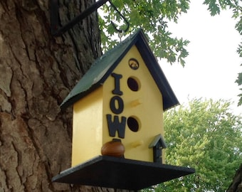 Yellow/Iowa Hawkeyes/Birdhouse