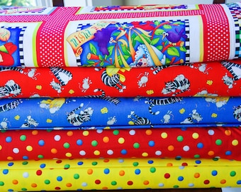 Bed Time Rhymes Collection from Henry Glass Fabrics, Quilt Quality Fabric Cut to Order