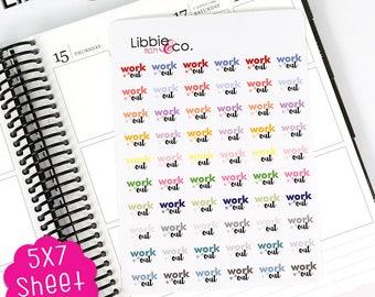 MC174 Pale Workout Stickers.  Perfect for the Erin Condren, Plum Paper, Happy, Mambi, Kikki or Filofax Planners!!!