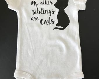 My other Siblings are Cats Onesie