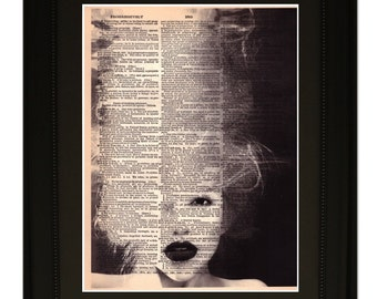 """Wake''.Dictionary Art Print. Vintage Upcycled Antique Book Page. Fits 8""""x10"""" frame"""