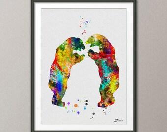 Bear poster bear print bear wall hanging bear decor watercolor painting watercolor print watercolor poster bear animal watercolor -A065