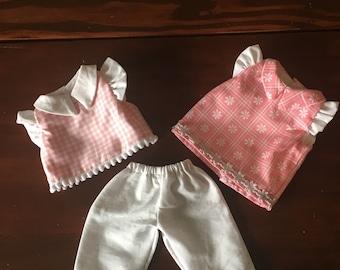 Springtime Shirt and Pants set for 12 inch Waldorf Doll