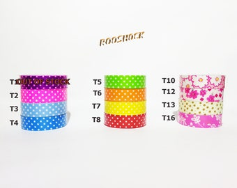 NEW Fabric Cotton Tape 5m Dot Floral Craft Scrapbooking DIY Decoration Agenda Tissue Novelty: Contact us for the quantity of each pattern!