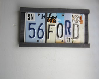 56 FORD -  license tag sign