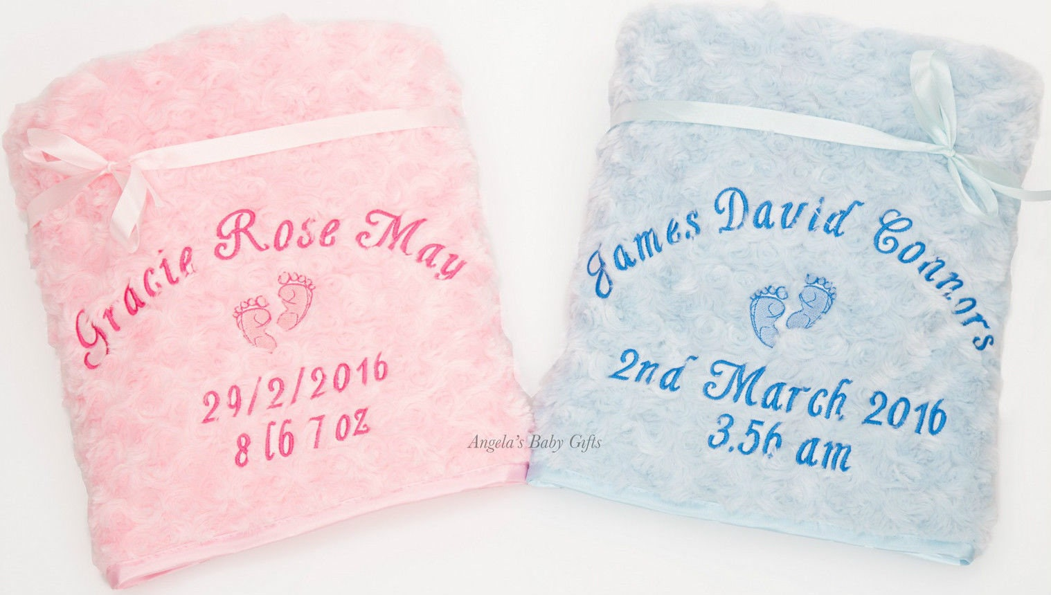 Personalized Baby Blankets Embroidery Included Baby Gifts