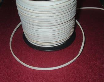 2.7 cream white suede leather cord 1 mm