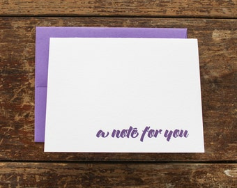 A Note For You Letterpress Greeting Card