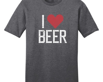 I Heart Beer - I Love Beer - Funny Drinking Quote T-Shirt