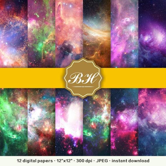 Universe digital paper Space Backgrounds Nebula Galaxy