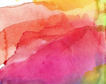 Large Art Print, Watercolor, Bliss