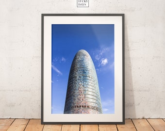 Architecture photography, Urban art, City landscape, Barcelona, minimal photo, Minimal photography, Original artwork, Wall art