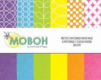 Prettily Patterned Digital Paper Pack