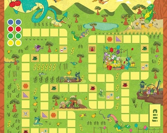 Board game - Angelo The Dragon - game for kids - age 4+ - languages: english, croatian, deutsch, italian, french