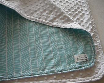 Herringbone Pond Minky Baby Blanket