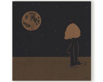 "Risograph print - ""Sadness""- Limited edition"