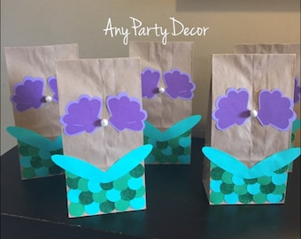 Mermaid Party Bags - Mermaid Party Favors (12 count)