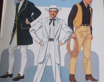 """1986 """"Clark Gable Paper Dolls in Full Color"""" Tom Tierney Book."""