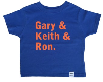 New York Mets - Gary Keith Ron - SNY - Broadcast Booth - Baby Bodysuit, Baby T-Shirt, Toddler T-Shirt