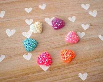 Unicorn Hearts, Fridge Magnets, Iridescent Hearts, Kitchen Decor, Whiteboard Magnet, Dorm Room Decor, Teacher Gift, Locker Magnets
