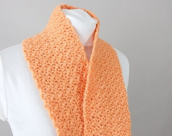 Hand Crocheted Orange Scarflette
