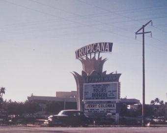 Original 1960 Old Las Vegas Casino Tropicana Hotel Color Snapshot Photo - Free Shipping