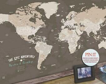 World map push pin etsy gumiabroncs Choice Image