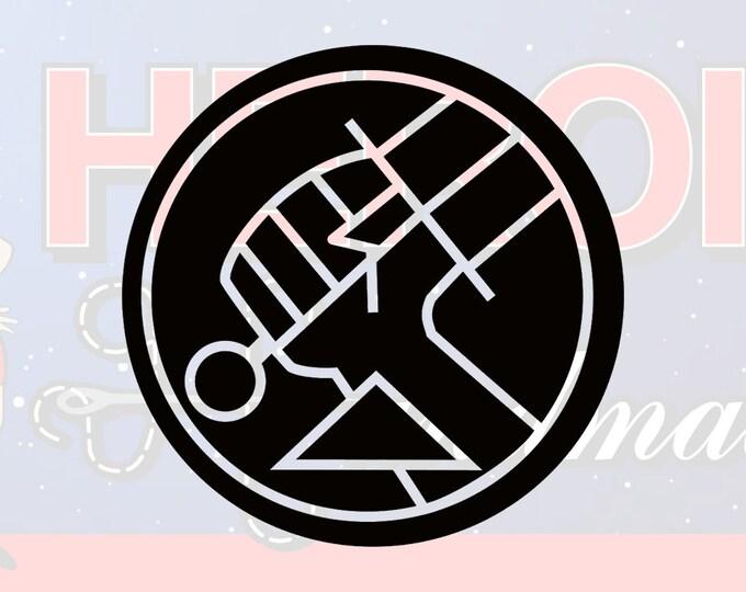 """4""""+ Hellboy BPRD Adhesive Vinyl Decal"""