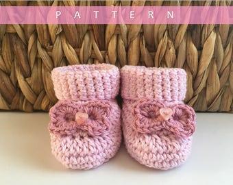 Crochet Booties Pattern/Baby Booties Crochet Pattern/Crochet Bootie Pattern/Baby Booties Pattern/Crochet Pattern
