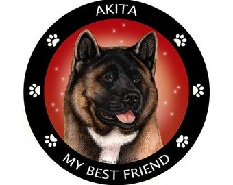 Akita Red Sable My Best Friend Magnet