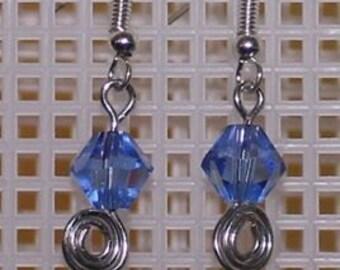 Simple Blue Swirl Earrings