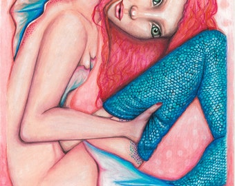 Mermaid #15x7 print