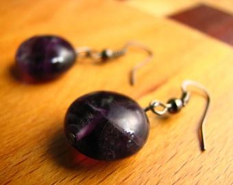 3621 -  Earrings Fluorite