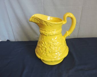 Vintage Yellow Water Pitcher