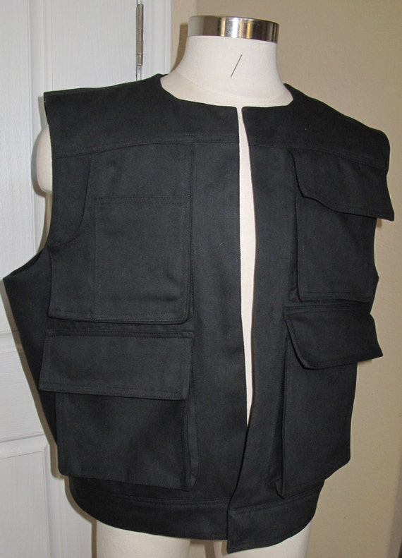 Han Solo ANH version Black novelty cotton vest in 9 sizes