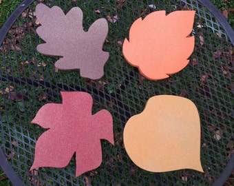 Set of 4 Fall Leaf Decor