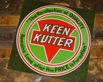 Tin/Metal Sign Advertising Keen Kutter Tools & Cutlery / knife / Knives