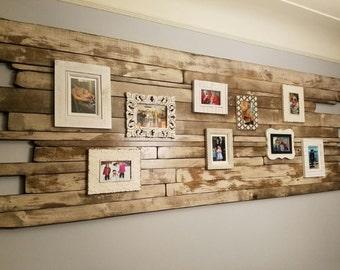 Luyk Whitewash Distressed Wood Art Wall Art