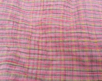 Pink Crinkle Summer 100% Cotton Fabric