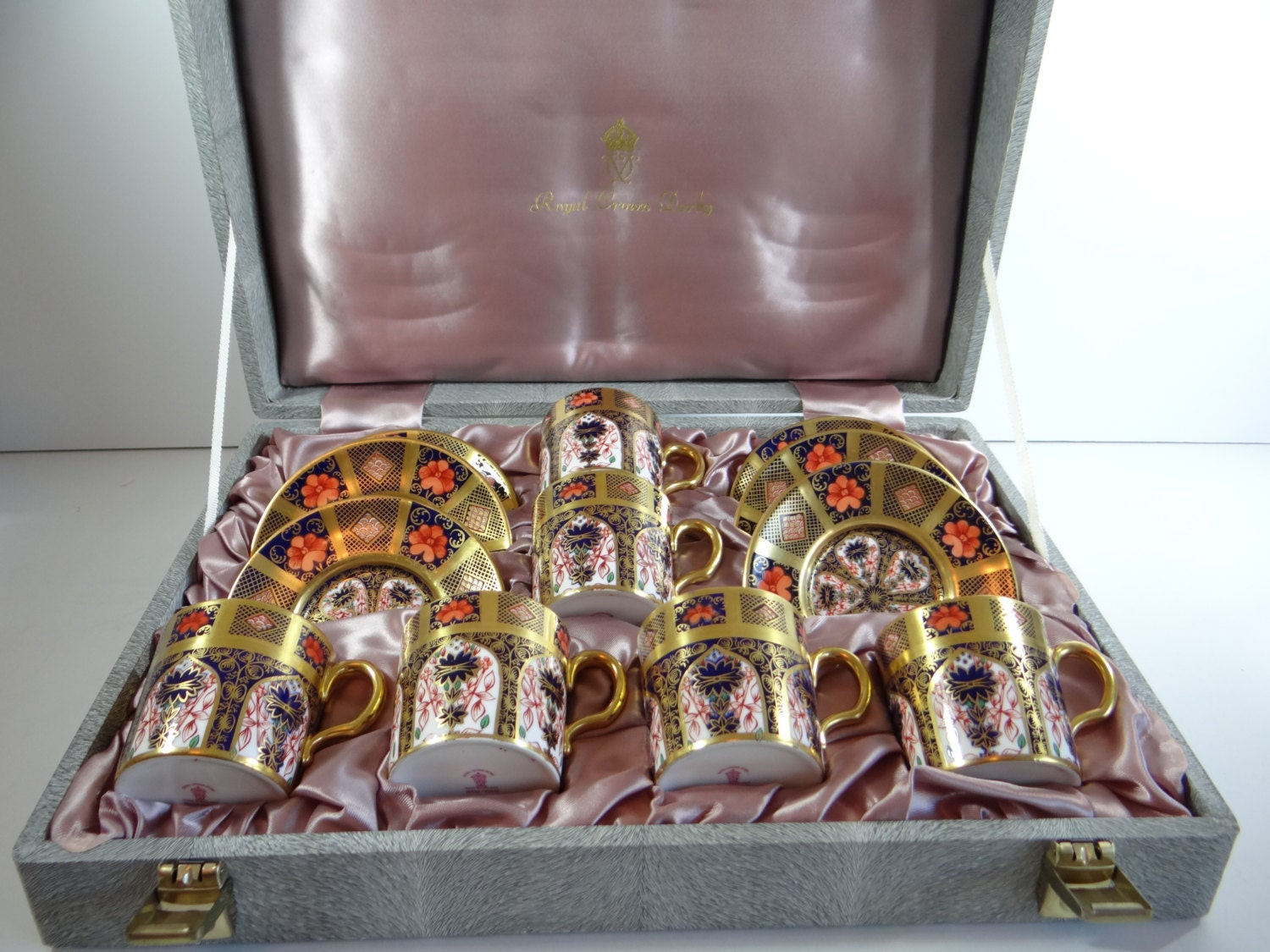 Extremeley rare royal crown derby old imari solid gold band zoom reviewsmspy