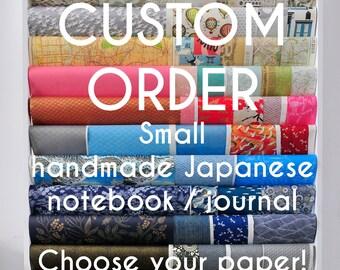 Sonderanfertigung, kleines Notizbuch, handgemacht, Geschenk, Journal, Tagebuch, Skizzenbuch, Reisetagebuch, Notizblock, Block