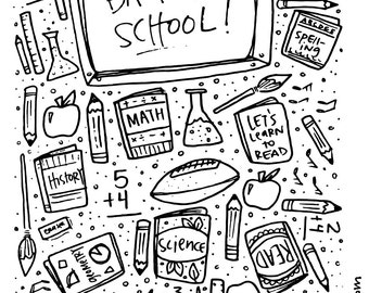 Back to School Printable [Lunchbox love notes ready to color + cut]: Print, Color, Repeat