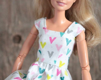 SALE 20% OFF Rainbow~ Barbie Clothes, Barbie Dress, 1/6 inch scale