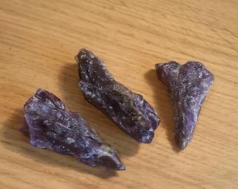 Natural raw amethyst