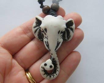 1  Elephant head pendant resin NB25
