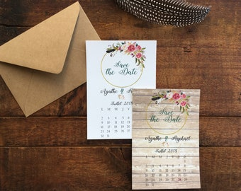 10 cards / Invitations Save the Date / country wedding