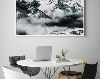Mountains Nature, Foggy Mountains, Mountains Photography, Mountains Foggy Print, Mountains Print, Mountains, Scandinavian Style, Scandinave