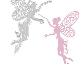 2.5 x 3.25 Inch Side Facing Fairy with Magic Wand Die