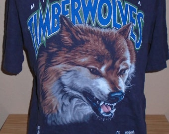 Vintage 1990s Minnesota Timberwolves NBA basketball t shirt Large