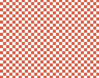 American Cotton - Blend Fabrics designer Maude Asbury - red checkerboard - BBQ by 50 cm (110 x)